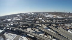 Montreal highways 3 Stock Footage