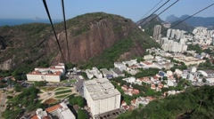 Sugarloaf Cable Car in Rio de Janeiro, Brazil Stock Footage