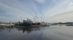 Palm Harbour Marina yachts Stock Footage