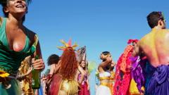 Carnival Parade in Rio de Janeiro, Brazil Stock Footage