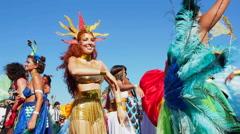 Carnival Parade in Rio de Janeiro, Brazil - stock footage