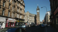 Stock Video Footage of Tolbooth Steeple at Glasgow Cross, Scotland