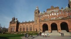 Kelvingrove Art Gallery in Glasgow, Scotland Stock Footage