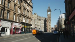 Tolbooth Steeple at Glasgow Cross, Scotland - stock footage
