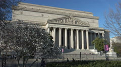 National Archives Building, Washington, DC - stock footage