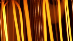 macro of a light bulb filament being dimmed and bright 4k - stock footage