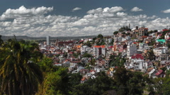 Time lapse of the city of Antananarivo at sunny day. Madagasca Stock Footage