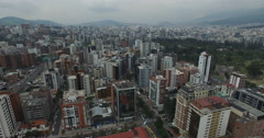 Flight over the Financial District of Quito, Ecuador - stock footage