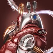 concept robot heart - stock illustration