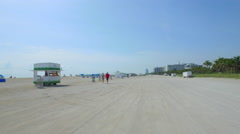 Motion video of sands of Miami Beach Stock Footage