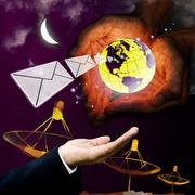 Stock Photo of Email protection technology, Communication concept