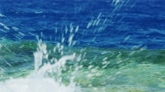The line separating sea water - blue on top, bottom azure - stock footage