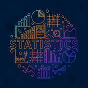 Stock Illustration of Bright statistics illustration