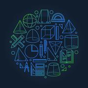 School geometry background Stock Illustration