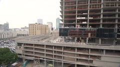 Downtown Los Angeles - Building under construction - stock footage