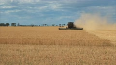 wheat header medium view - stock footage