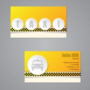 Taxi business card with 3d buttons - stock illustration