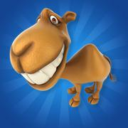 Fun camel - stock illustration
