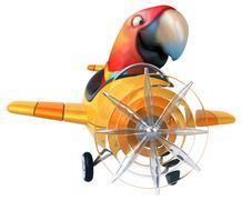 Fun parrot - stock illustration