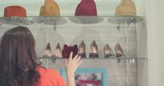 Choosing On-Trend High Heels - stock footage