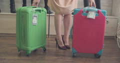 Choosing the Right Travel Luggage Stock Footage