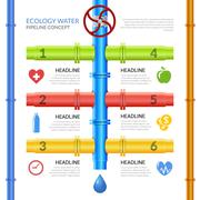 Stock Illustration of Ecology Water Pipeline Infographics