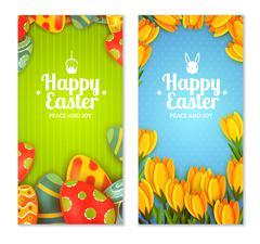 Easter banner set Stock Illustration