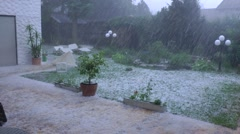 Severe Hail Storm Germany Handheld Stock Footage