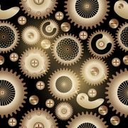 Seamless background pattern. The steampunk style. Piirros