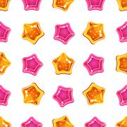 Star Candy Pattern. Vector Illustration - stock illustration