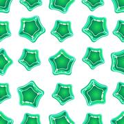 Star Shape Candy Pattern. Vector Illustration - stock illustration