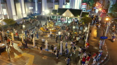 People around Erawan Shrine in Centre of Bangkok Thailand. Stock Footage