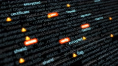 Web pages security, development Stock Footage