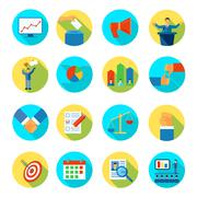 Election Icon Flat Rounded - stock illustration