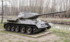 Soviet tank T-34-85 of the World war II - stock photo