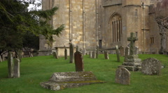 St James Church Cemetery Chipping Campden England 4K Stock Footage