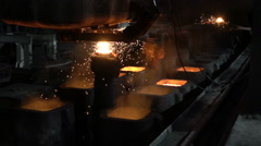 Filling out forms, liquid preparations, hot metal 2 - stock footage