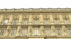 People visit Royal palace in Stockholm, Sweden. Stock Footage