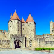 Stock Photo of Towers of Medieval Castle, Carcassonne