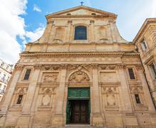 Dominican Eglise Saint Paul, baroque style, Bordeaux Stock Photos