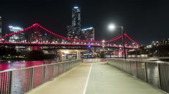 Brisbane Story Bridge moving time-lapse Stock Footage