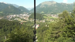 Cable track going downhill in Austria Stock Footage