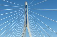 New Pepa bridge in Cadiz, Andalusia, Spain - stock photo