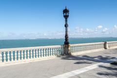 Boardwalk of Cadiz, Genoves Park, Andalusia, Spain - stock photo