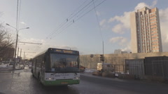 Construction of  overpass at  intersection of Volgograd prospectus Stock Footage