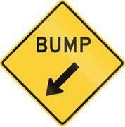 Stock Illustration of Road sign used in the US state of Minnesota - Bump