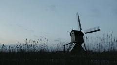 Windmill - Kinderdijk, Holland - stock footage