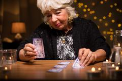 Predicting future from cards Stock Photos