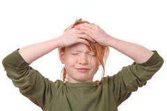 Stressed girl Stock Photos
