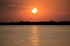Sunset in Amazon river Stock Photos